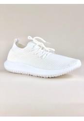 Hvid let sneaker i neopren materiale