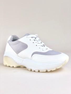 Hvid og grå sneakers