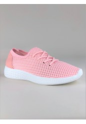 Pink Netmønsteret Sneaker
