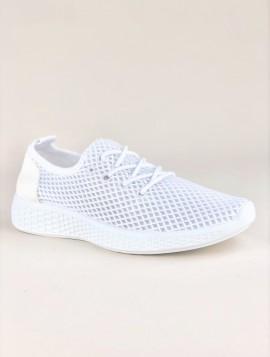 Hvid Sneaker med Netmønster