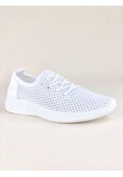 Hvid Netmønsteret Sneakers