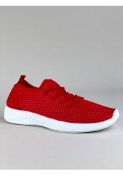 Rød Netmønsteret Sneaker
