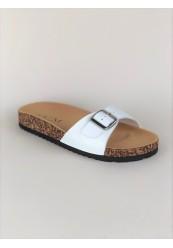 Slip In Sandal i Hvid