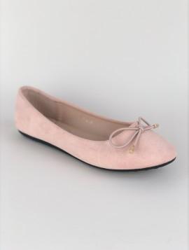Ballerina Sko i Pink med Sløjfe
