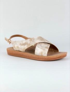 Beige Crossover Sandal