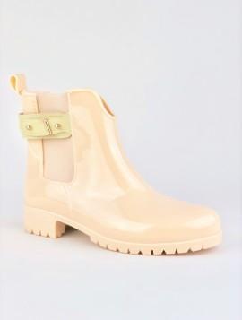 Beige gummistøvle