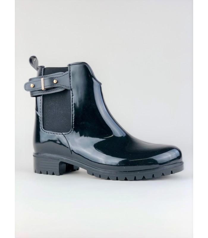 Sort gummistøvle