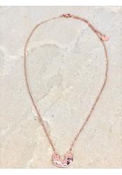 Rosen guldbelagt halskæde