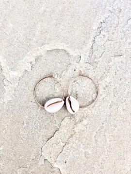 Øreringe med musling