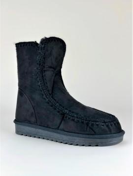 Sort støvle med foer indvendig