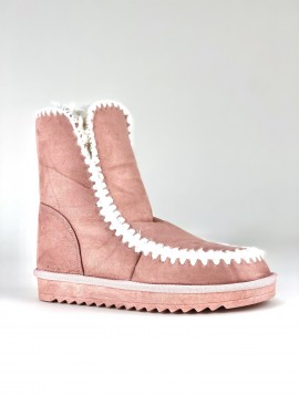 Støvle i pink nuance med foer