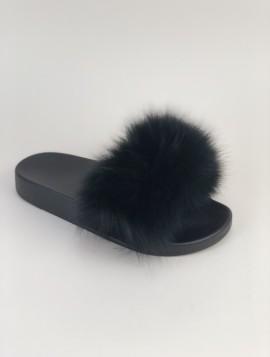 Trend Ægte Pels sandal i sort