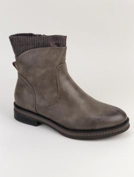 Khaki støvle med foer