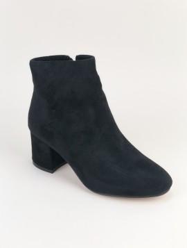 Sort klassisk støvle i imiteret skind