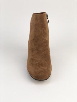 Brun klassisk støvle i ruskindslook