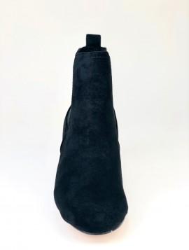 Sort klassisk støvle i ruskindslook