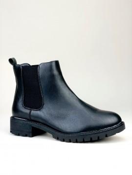 Sort klassisk Chelsea boot i imiteret skind