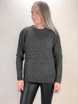 B.young grå strik med uld