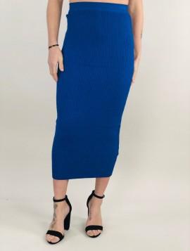 Blå Strik nederdel