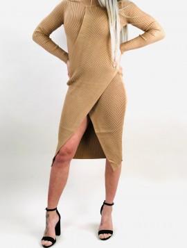 Beige Strik kjole