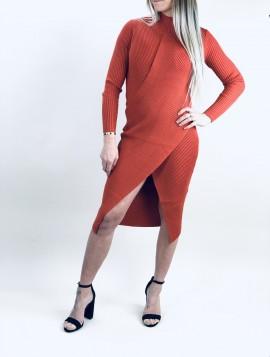 Orange Strik kjole