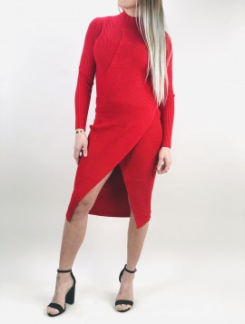 Rød Strik kjole