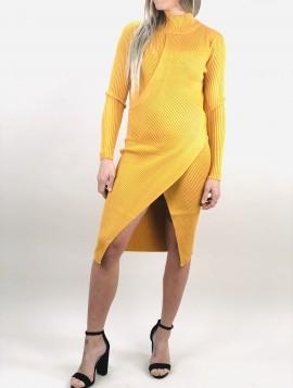 Gul Strik kjole