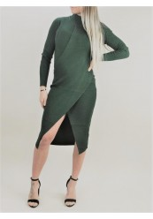 Grøn Strik kjole