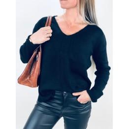 Image of   Sort Uld Pullover - Størrelse - OneSize