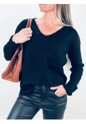 Sort Uld Pullover