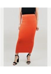 Orange Strik nederdel
