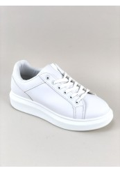 Hvid Sneakers med Plateau