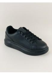 Sort Sneakers med Plateau