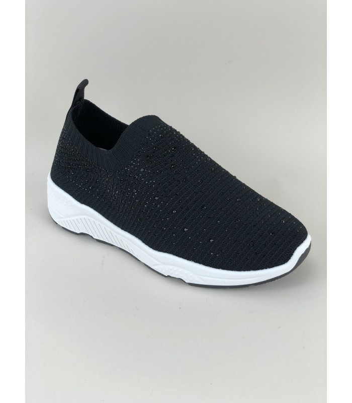 Sort Slip in Sneakers med similisten