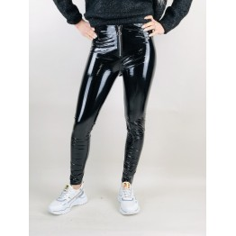 Image of   Leggings i lak look - Størrelse - L