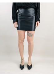 Sort Nederdel i imiteret Skind