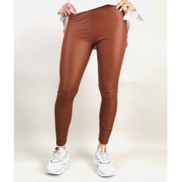Image of   Brune Leggings i læderlook - Størrelse - ML