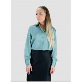 Image of   Klassisk Satin Skjorte - Størrelse - L