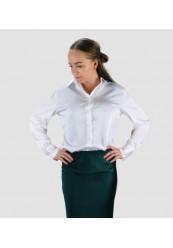 Klassisk Hvid Satin Skjorte