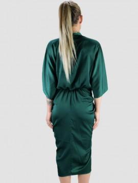 Grøn Draperet Kjole