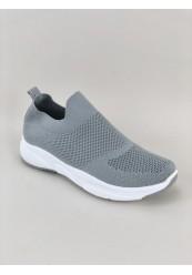 Grå Formstrikket Sneakers