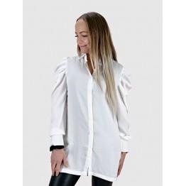 Image of   Hvid Skjorte med Pufærmer - Størrelse - L