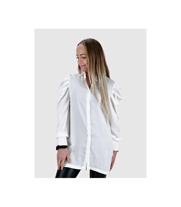 Hvid Skjorte med Pufærmer