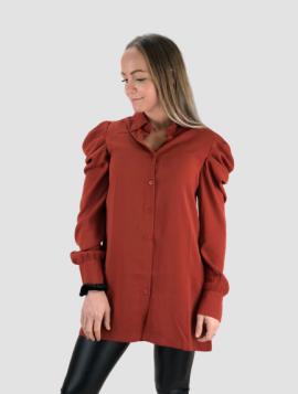 Mahogni Skjorte med Pufærmer