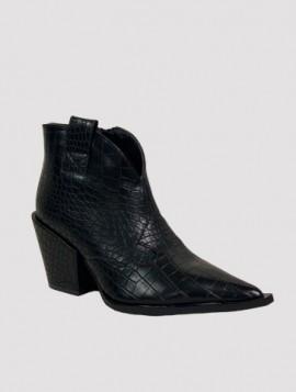 Spids støvle i krokodille look
