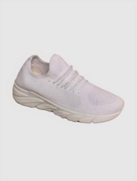 Hvid Formstrikket Sneakers