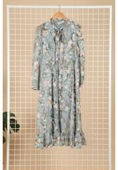 Kjole med print