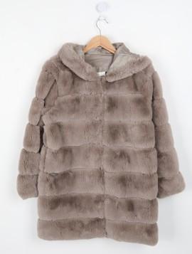 Mellemlang Faux Fur Jakke