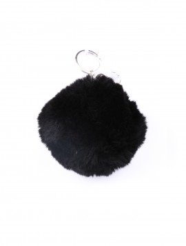 Nøglering Faux Fur Grå