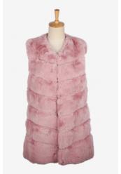 Rosa Midi Faux Fur Vest